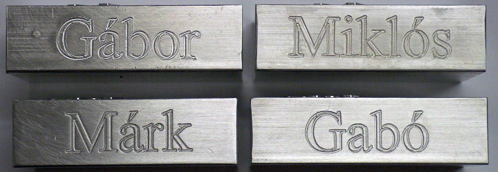Engraving names