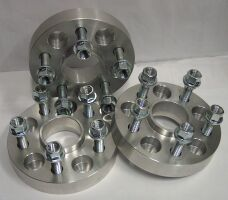 Aluminium wheel spacers, wheel bolts and nuts