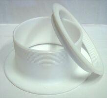 Teflon (PTFE) caulking rings with thread